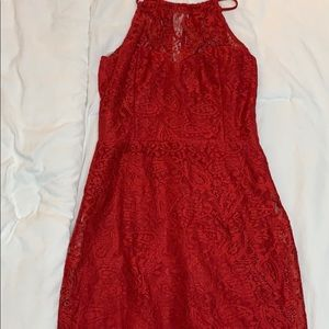 Charlotte Russe Dresses - Red Floral Charlotte Russe mini dress